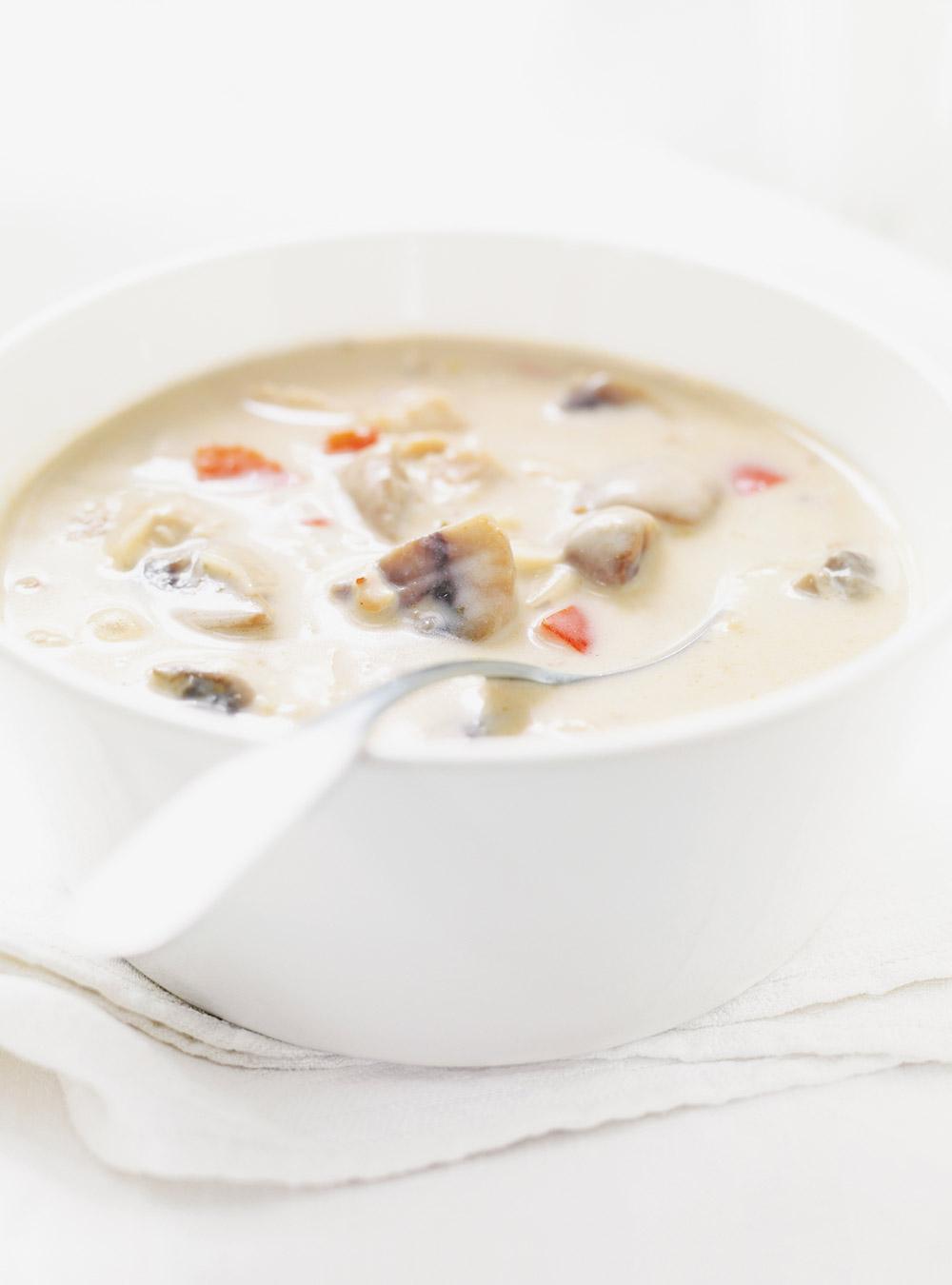 Soupe crémeuse au poulet | ricardo
