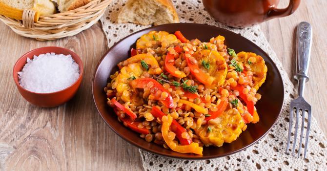 Recette de curry de lentilles corail croq'kilos aux poivrons