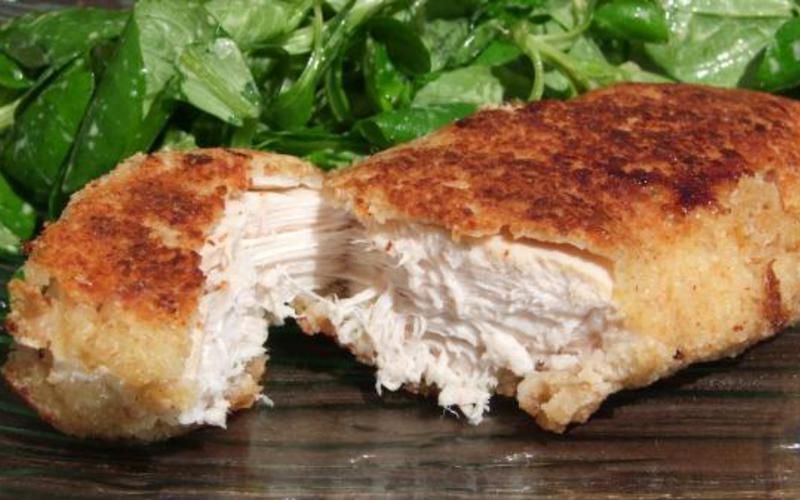 Recette Escalopes De Poulet Panees Economique Et Simple Cuisine