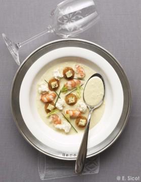 Velouté de chou-fleur aux crevettes pour 4 personnes