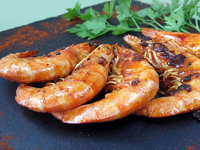 Gambas grillées  recette de cuisine avec photos  recette légère ...
