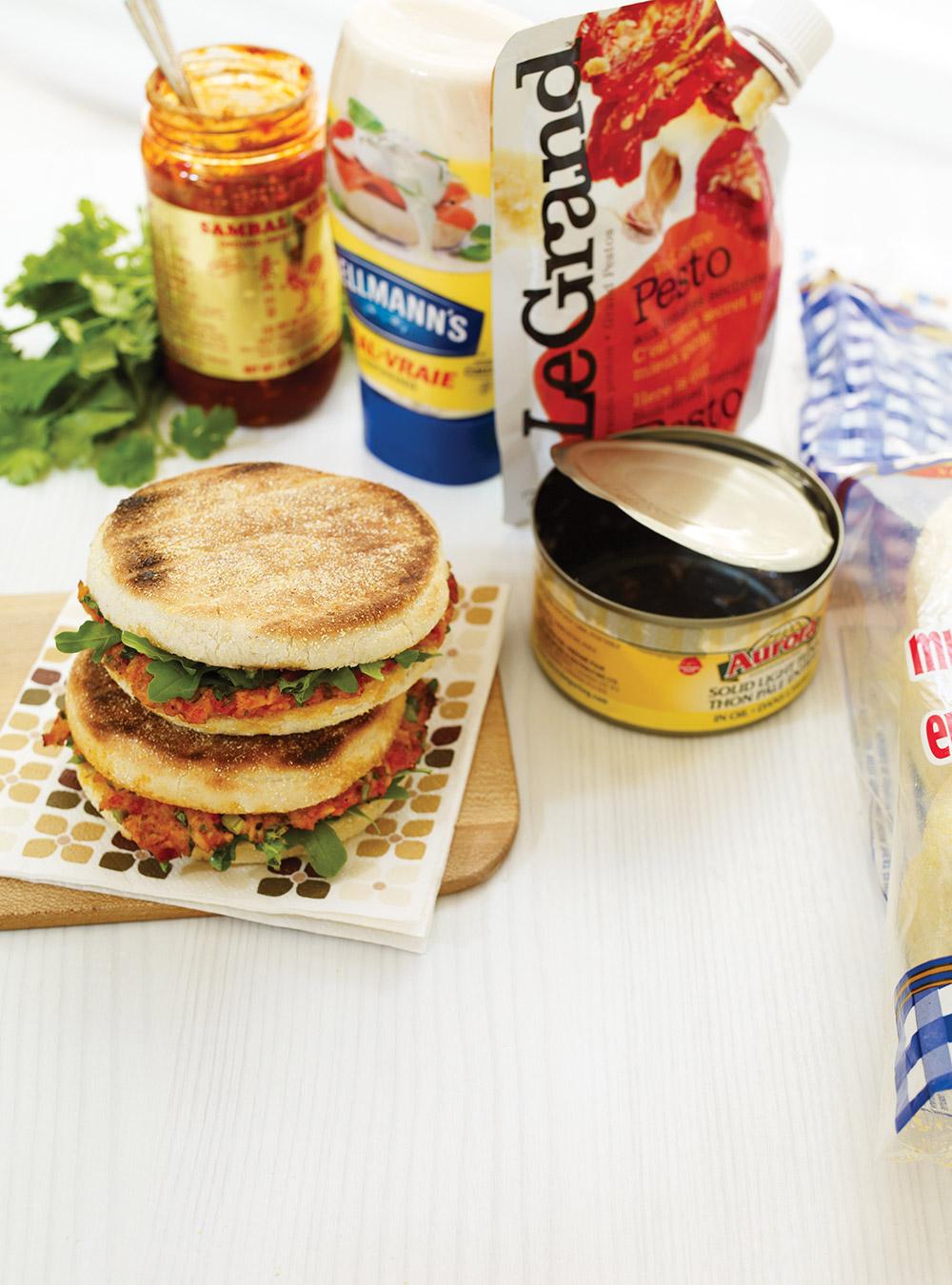 Panini au thon et au pesto de tomates séchées | ricardo