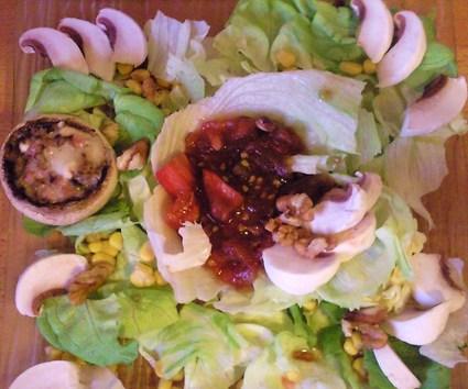Recette de salade fraîcheur aux champignons