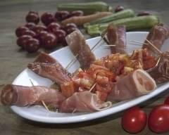 Recette roulés au jambon, aux tomates séchées et à la mozzarella