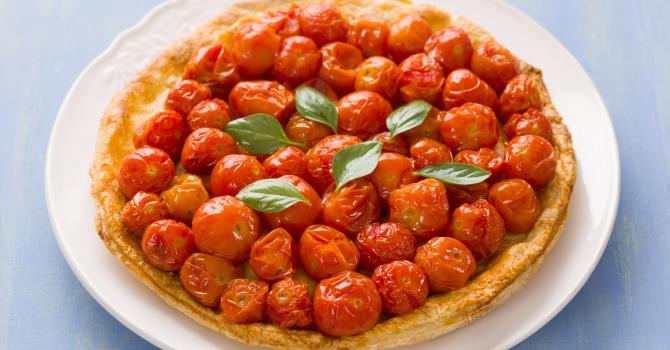 Recette de tarte tatin aux tomates cerise et balsamique
