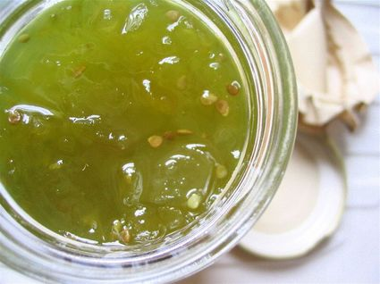 Recette de confiture de tomates vertes, orange et citron