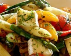 Recette salade de pâtes à la feta et au poivron