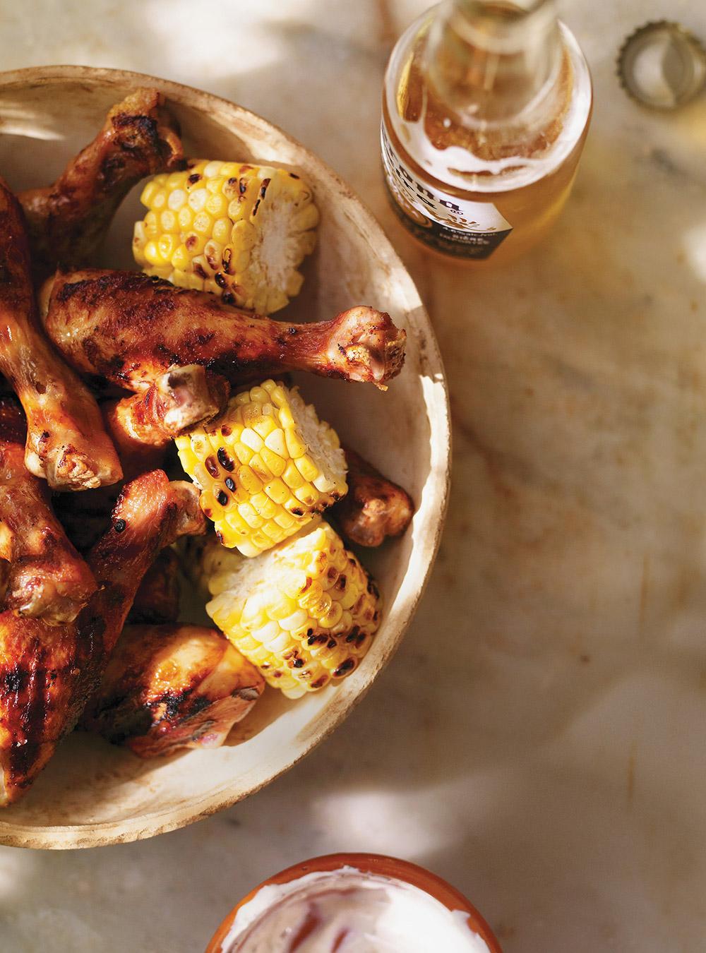 Pilons de poulet marinés à la bière mexicaine   ricardo