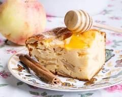 Recette far breton aux pommes caramélisées au miel