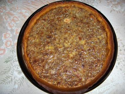 Recette de tarte au sucre et aux noix