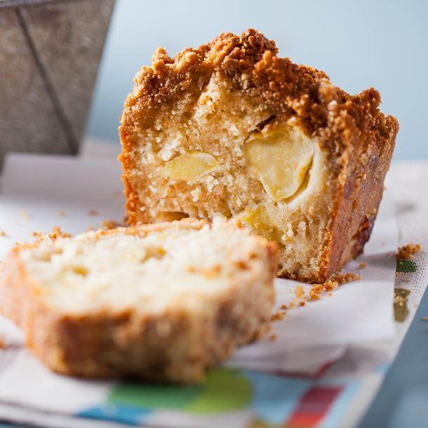 Recette crumble cake aux pommes et spéculoos
