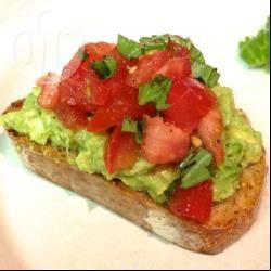 Recette bruschetta avocat tomate basilic – toutes les recettes ...