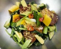 Recette wok rock et poitrine de porc grillée aux épices
