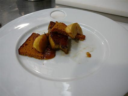 Recette de millefeuille foie gras poêlé et pain d'épices