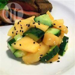 Recette salade au concombre et au melon – toutes les recettes ...