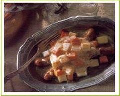 Recette gratin de saucisses et de pommes de terre