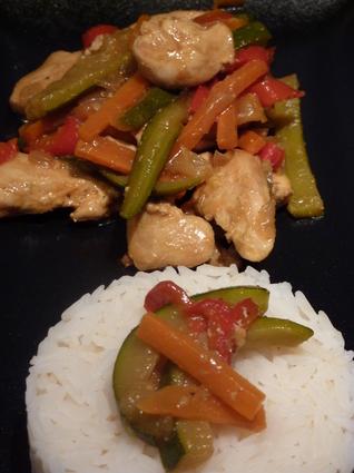 Recette de wok de poulet aux légumes