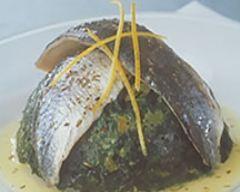 Recette charlotte d'épinards et de hareng sauce citron