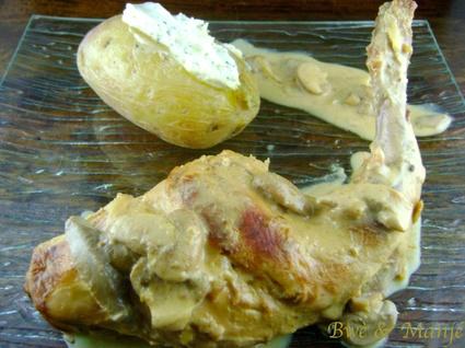 Recette de lapin à la moutarde et au lait de coco