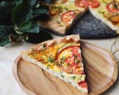 Quiche fondante tomates-mozzarella | cuisine az