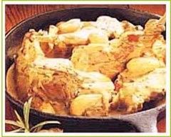 Recette lapin à la bressane