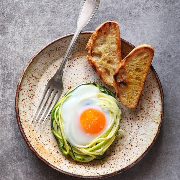 Recette œufs cocotte à la courgette
