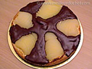Tarte aux poires chocolatée  recette de cuisine illustrée ...