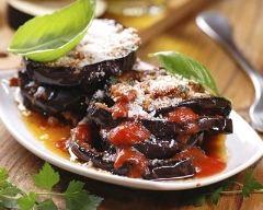 Recette aubergines au parmesan râpé