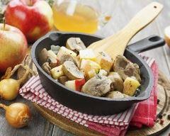 Recette sauté de porc au cidre et aux pommes