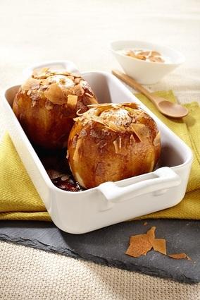 Recette de pommes au four et crêpes dentelles
