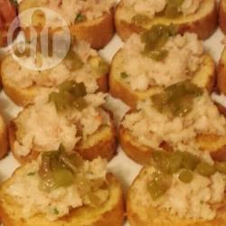 Recette bouchées de crevettes à l'ail et au chutney de poivron ...