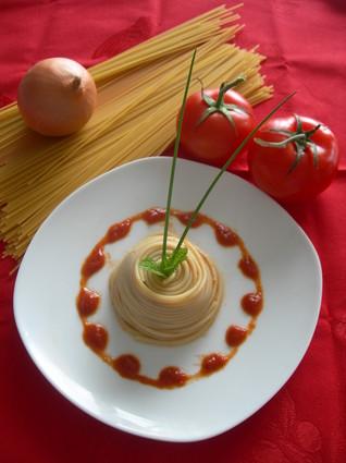 Recette de tourbillon de spaghettis à la bolognaise