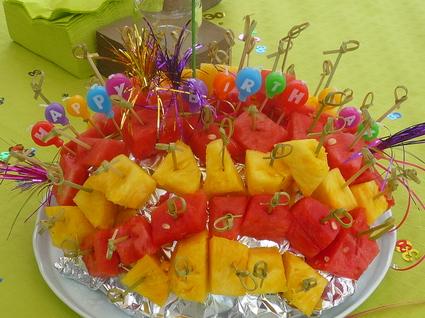 Recette de hérisson ananas/pastèque