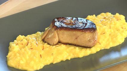 Recette de risotto milanese au foie gras et safran