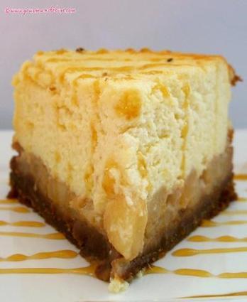 Recette de cheesecake aux poires caramélisées