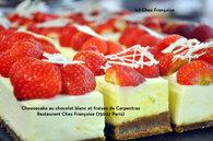 Recette de cheesecake au chocolat blanc et fraises de carpentras ...