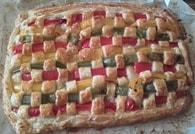 Recette de tarte mozzarella jambon poivrons