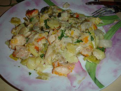Recette de haddock, poireaux, pommes de terre