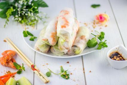 Recette de rouleaux de printemps au poulet et crevettes