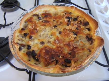 Recette de tarte à la banane, raisins secs et amandes effilées