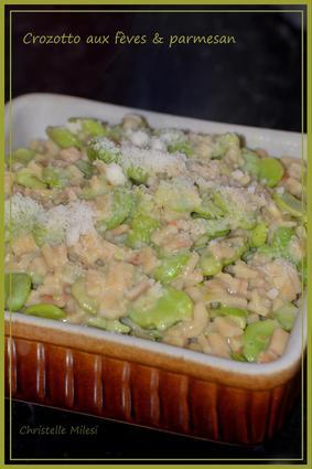 Recette de crozotto aux fèves & parmesan