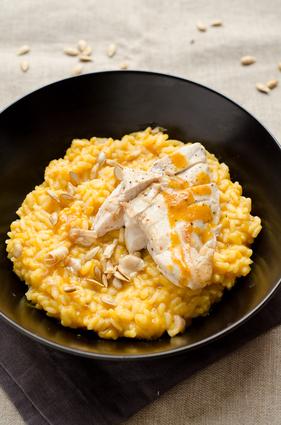 Recette de risotto à la courge butternut et foie gras