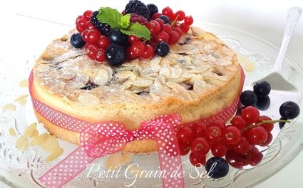 Recette de gâteau macaronné aux fruits rouges