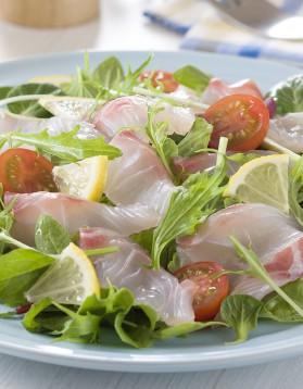 Salade de graines germées aux fruits, tartare de dorade pour 4 ...