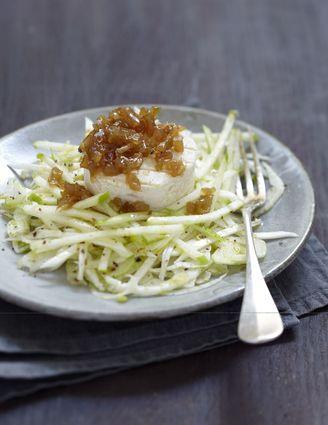 Recette de salade croquante de fenouil, céleri-rave, pomme granny ...