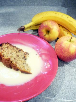 Recette de gâteau au yaourt au chocolat-pomme-banane