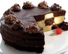Recette gâteau damier au chocolat et vanille