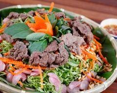 Recette bo bun, salade de boeuf à la vietnamienne