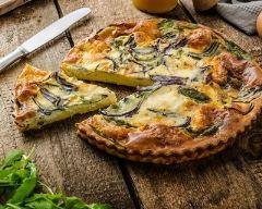 Recette quiche à la polenta, épinards et mozzarella