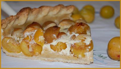 Recette de tarte aux mirabelles et au yaourt